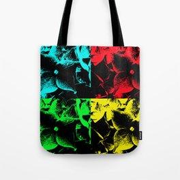 Pop Art Hydrangea flowers. Tote Bag