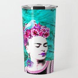 Frida Kahlo ang Crystalls Travel Mug