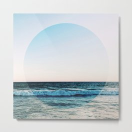 Vibrant Sea Horizon Metal Print