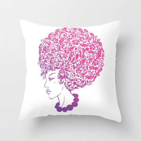 Ms. Floral Throw Pillow