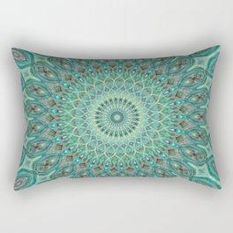 Mint Dreams Mandala Rectangular Pillow