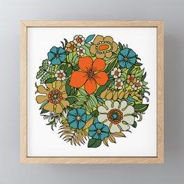 70s Plate Framed Mini Art Print