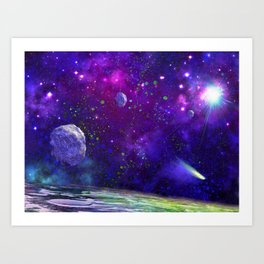 View From a Distant Moon Art Print