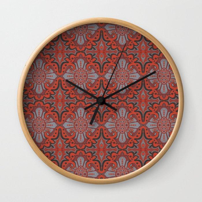 Sliced pomegranat Wall Clock