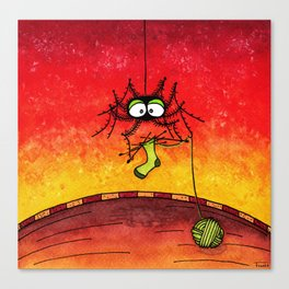 Knitting Spider Canvas Print