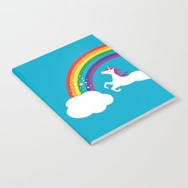 Unicorn Rainbow in the Sky Notebook