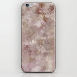 PINK AND TAN PRINT iPhone Skin