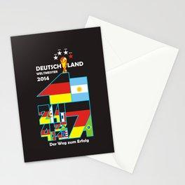 SCHWARZ T-SHIRT, DEUTSCHLAND 2014 WELTMEISTER. GERMANY WORLD CHAMPION 2014. WORLD CUP. Stationery Cards