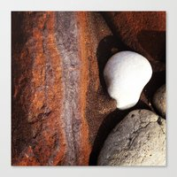 geology Canvas Prints featuring Beach geology by Geométrica