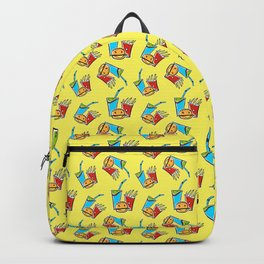 Fun Fast Food (seamless pattern in yellow) Backpack
