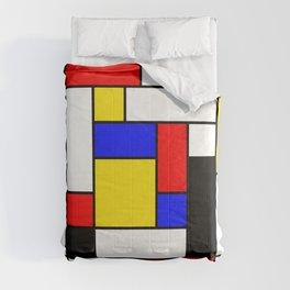 Mondrian Geometric Art 2 Comforters