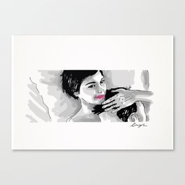 Amelie and Nino- Bed. Canvas Print