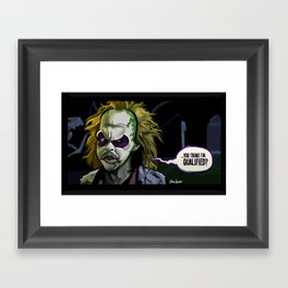 Qualified? Framed Art Print