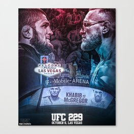 Khabib vs McGregor Canvas Print