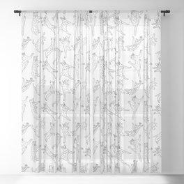 Flying Cats Sheer Curtain