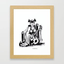 Inktober: Graceful Framed Art Print