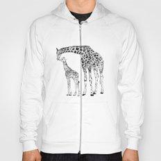 Giraffes, black and white Hoody