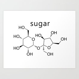 sugar molecule formula Art Print