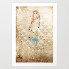 Girl One Art Print