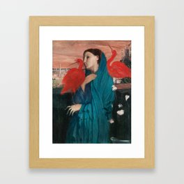 Young Woman with Ibis by Edgar Degas Framed Art Print