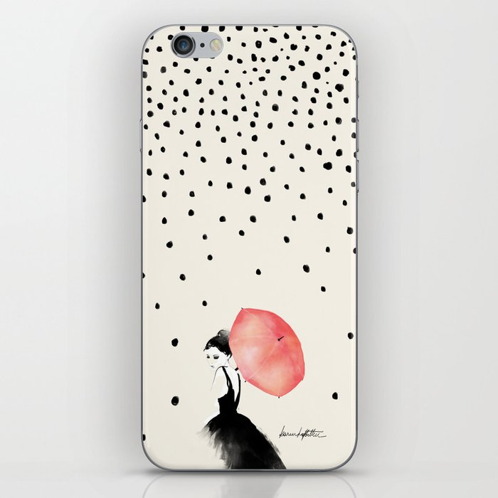 Polka Rain iPhone Skin