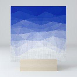 Imperial Lapis Lazuli - Triangles Minimalism Geometry Mini Art Print