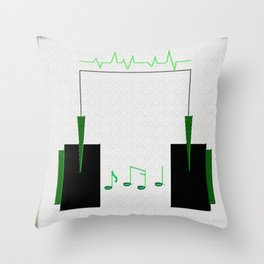 Life=Music Throw Pillow