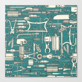 fiendish incisions blue Canvas Print
