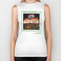 theatre Biker Tanks featuring Plaza Theatre by ATL Landmark Art (Robyn Siani)