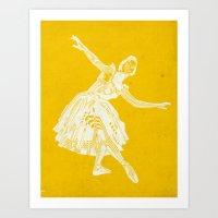 ballerina waves Art Print