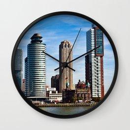 Skyline of Rotterdam Wall Clock