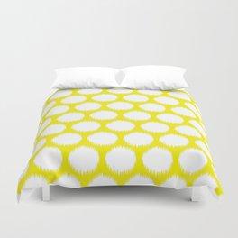 Golden Yellow Asian Moods Ikat Dots Duvet Cover