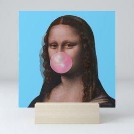 Mona Lisa (Leonardo da Vinci) with Bubblegum Mini Art Print