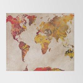 world map 24 Throw Blanket