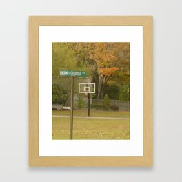 farther to court #84 Framed Art Print