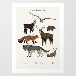 Shelter 2 - Animal Summer Coats Art Print