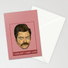 I Couldn't Care Less Stationery Cards