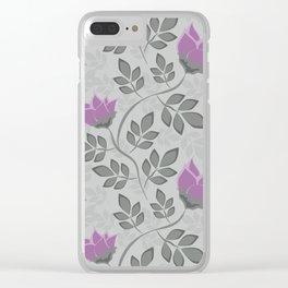 Liana purple flowers . Clear iPhone Case