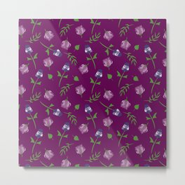 Pretty Pink Floral Pattern Metal Print