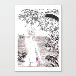 Inktober / water witch Canvas Print