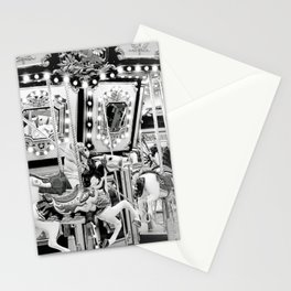 Carousel in Black & White Stationery Cards