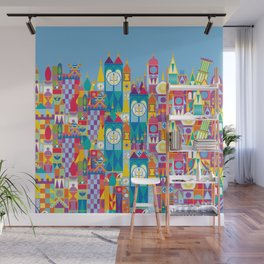 It's A Small World - Theme Park Inspired Wall Mural