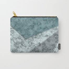 Combined abstract pattern .Green marble . Carry-All Pouch