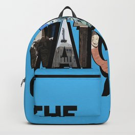 The Watchers of Chicago Illinois Big Letter Backpack