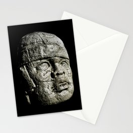 Mexican Pre Hispanic Head Sculpture Poster Stationery Cards