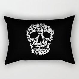 CatSkull Black Rectangular Pillow
