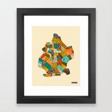 BROOKLYN NEIGHBORHOODS Framed Art Print
