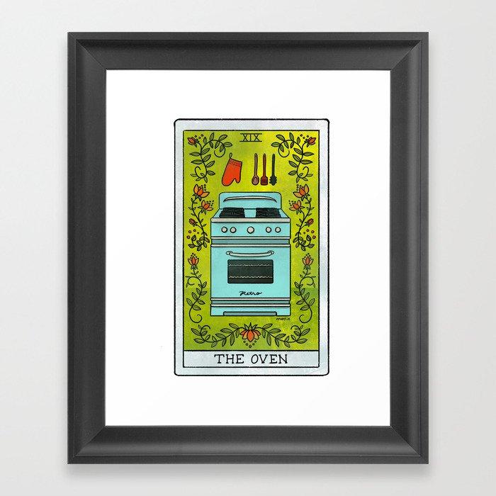 The Oven | Baker's Tarot Gerahmter Kunstdruck