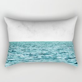Ocean + Marble || #society6 #decor #buyart Rectangular Pillow