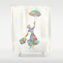 Mary Poppins - The Magical Nanny Shower Curtain